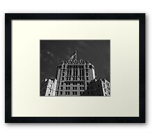 Hotel & Flag Framed Print