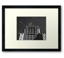 Hotel & Flag Framed Print