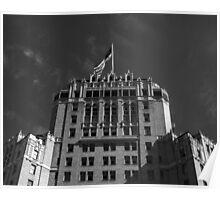 Hotel & Flag Poster