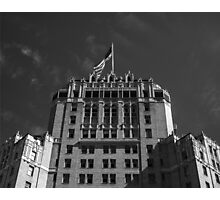 Hotel & Flag Photographic Print