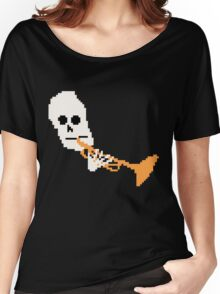 Doot Mr.Skeltal Meme Pixel Art 2spooky4me Women's Relaxed Fit T-Shirt