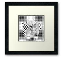 Pattern Art - Black & White Framed Print