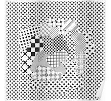Pattern Art - Black & White Poster
