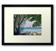 Summertime Along Lake Michigan Framed Print