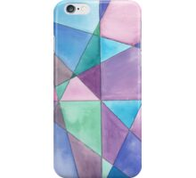 Mosaic in Blue, Purple and Turquoise  iPhone Case/Skin