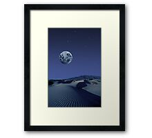 Starfield and Moon in the Desert Night Framed Print