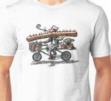 Sub Sandwich Delivery Guy on Bike Unisex T-Shirt