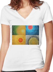 The Four Seasons collage Women's Fitted V-Neck T-Shirt