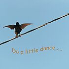 """Do a Little Dance.."" Greeting Card by Susan S. Kline"