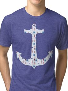 Anchor - Lighthouse, Seagulls Tri-blend T-Shirt