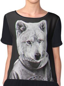 Wolf Man Chiffon Top