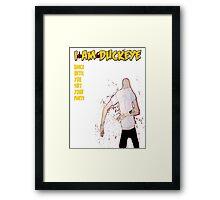 """Dancey Pants Man Warren"" by I am Duckeye Framed Print"