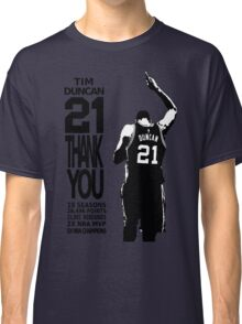 Tim Duncan Retire - San Antonio Spurs NBA Classic T-Shirt