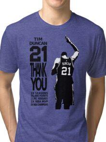 Tim Duncan Retire - San Antonio Spurs NBA Tri-blend T-Shirt