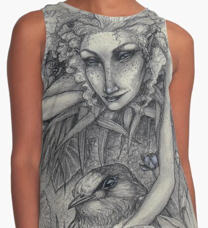 Summer Fairy and Her Swallow Contrast Tank