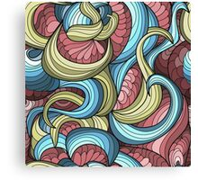 free vector chaotic pattern Canvas Print