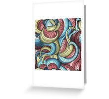 free vector chaotic pattern Greeting Card