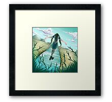 Across the Line Framed Print
