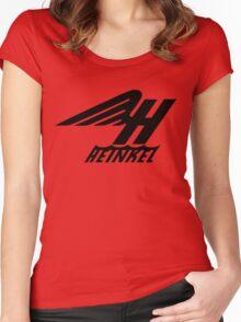 Heinkel Flugzeugwerke Logo (Black) Women's Fitted Scoop T-Shirt