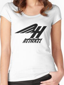 Heinkel Flugzeugwerke Logo (Black) Women's Fitted Scoop T-Shirt