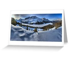 Peyto Lake Winter Panorama Greeting Card