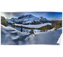 Peyto Lake Winter Panorama Poster