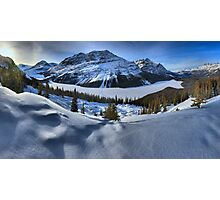 Peyto Lake Winter Panorama Photographic Print