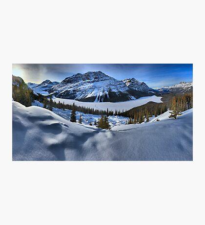 Peyto Lake Winter Panorama Photographic Print