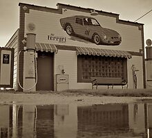 Old Gas Station, route 66 by Andrew Felton