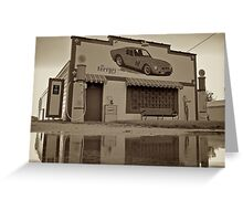 Old Gas Station, route 66 Greeting Card
