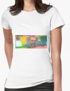 Pop Art Colorized One Hundred Australian Dollar Bill Womens Fitted T-Shirt
