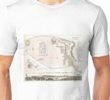 Vintage Map of Pompeii Italy (1832) Unisex T-Shirt