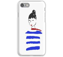 Just a french girl, living in a lonely world.  iPhone Case/Skin