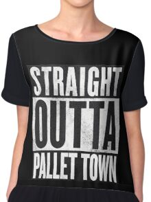 Straight Outta Pallet Town Chiffon Top