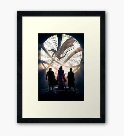 Benedict Cumberbatch 4 iconic characters by lichtblickpink Framed Print