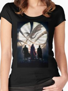 Benedict Cumberbatch 4 iconic characters Women's Fitted Scoop T-Shirt