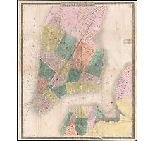Vintage Map of New York City (1835) Photographic Print