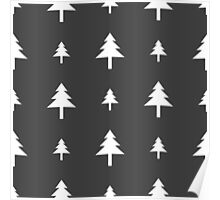 christmas tree pattern Poster