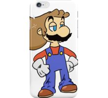 Mario with Glorious Hair iPhone Case/Skin