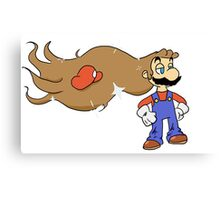 Mario with Glorious Hair Canvas Print