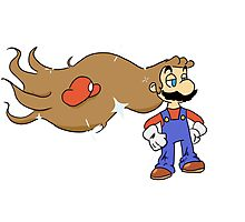 Mario with Glorious Hair Photographic Print