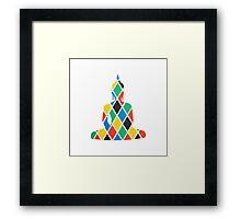 Coloured Diamond Buddha Framed Print