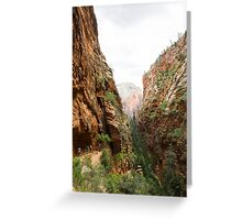 Angels Landing at Zion National Park Greeting Card
