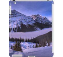 Peyto Lake Purple Sunset Panorama iPad Case/Skin