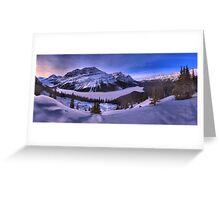 Peyto Lake Purple Sunset Panorama Greeting Card