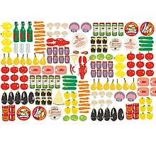 pattern with food Photographic Print