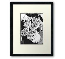 Vintage Cotton Reels Framed Print