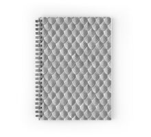 Celtic Knot Scale Armor - Silver Spiral Notebook