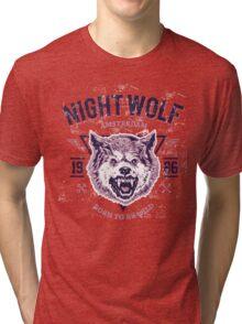 Wolf head grunge Tri-blend T-Shirt