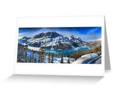 First Snow At Peyto Lake Greeting Card